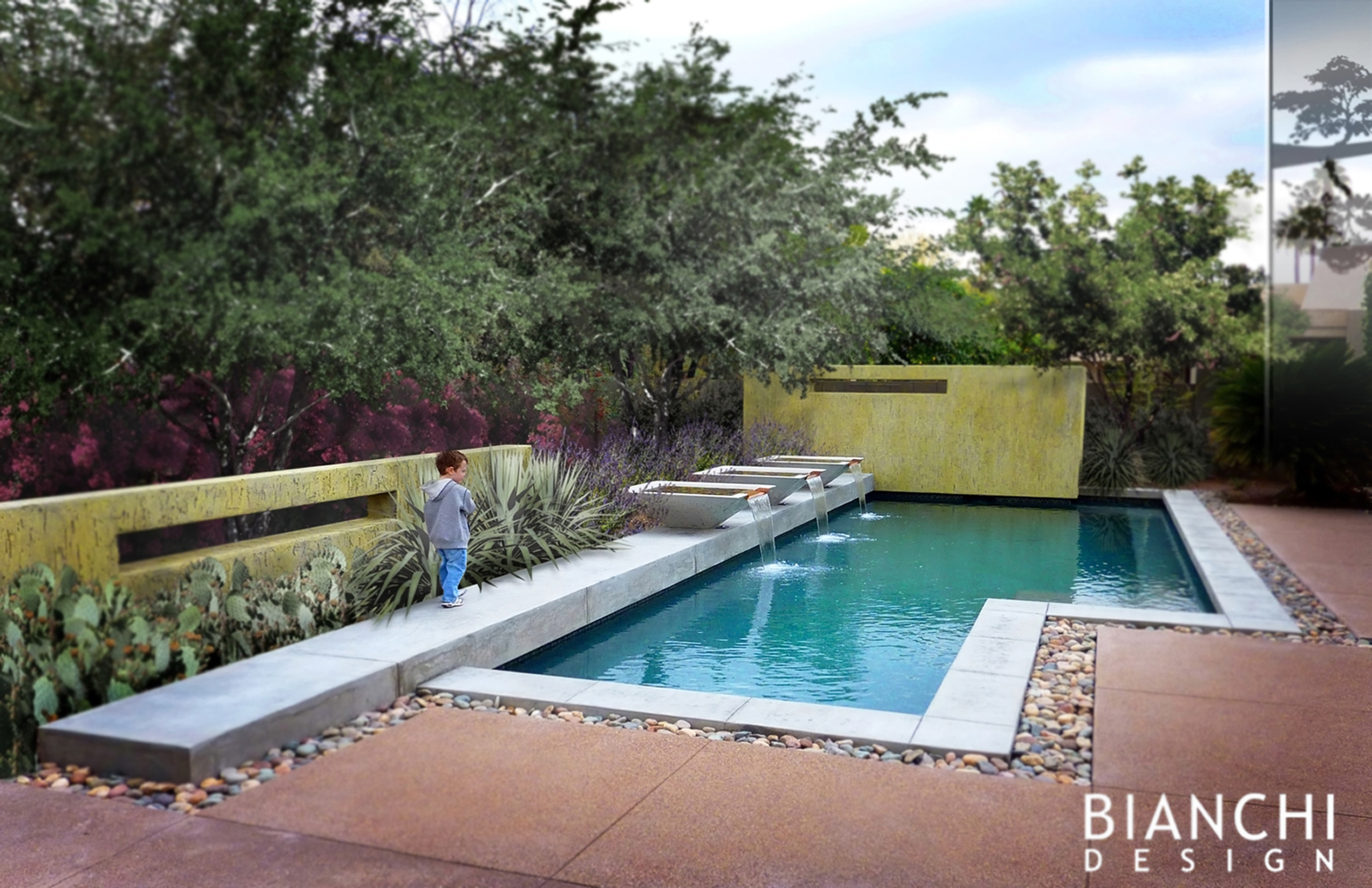 Strikingly simple bianchi design for Pool design 101